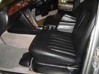Rolls Royce leather seat after re-dye