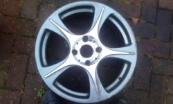 Alloy wheel before colour coding